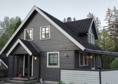 Male gra hvit hus